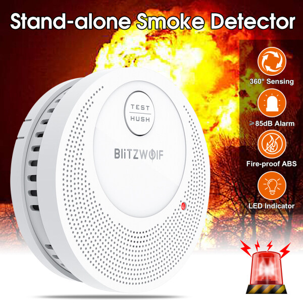 BlitzWolf BW-OS1 Stand-alone Smok Detector Rechargeable Fire Alarm Sensor for Home Hotel Warehouse Factory Security