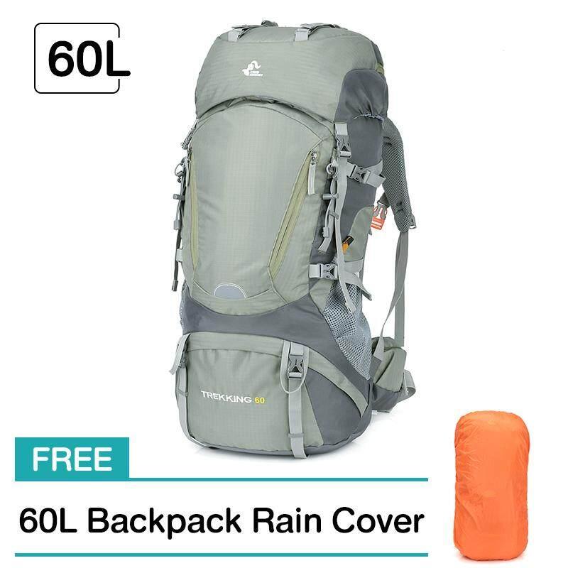Freeknight Berbobot Ringan 60L Ransel Luar Ruangan Kamera Peluru Anti Cuaca Nilon Ransel Mendaki Gunung Ransel