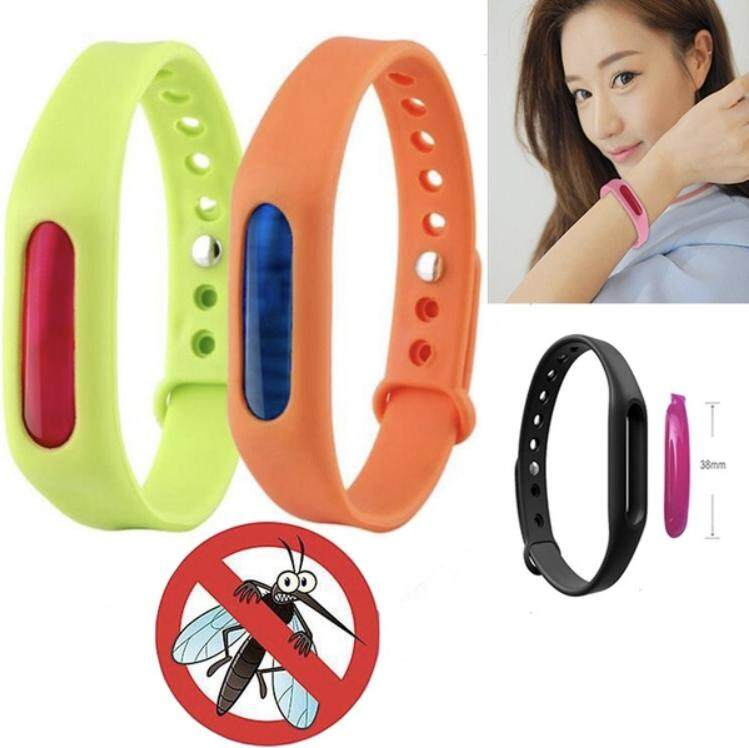 2PCS/Set New Anti Mosquito Pest Insect Bugs Repellent Repeller Wrist Band Bracelet Wristband