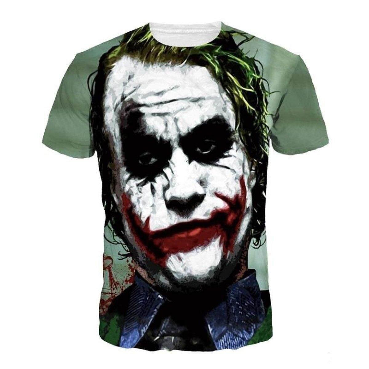 Jiayiqi Funny Joker Short Sleeve T-shirt Tops Summer Punk Print T-Shirts Clown