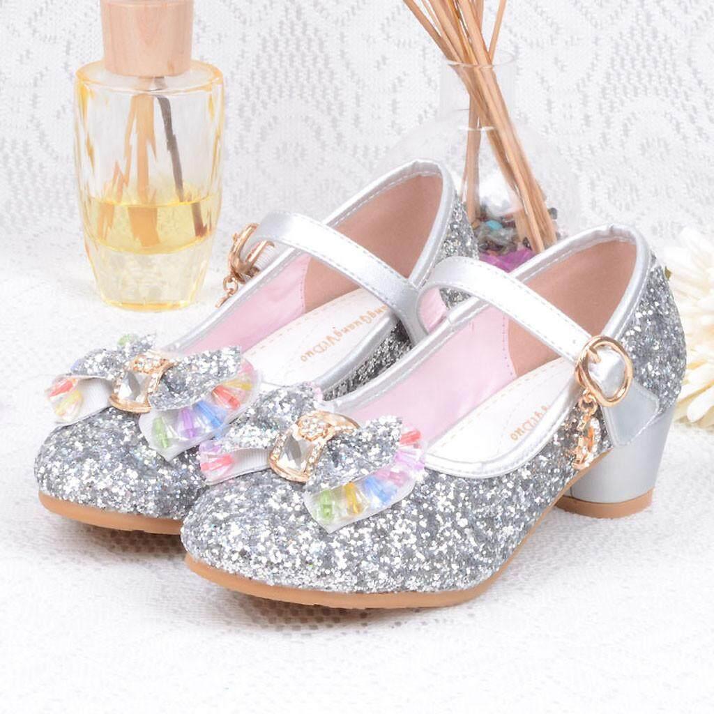ef84b9df3467c Hatchshop Infant Kids Baby Girls Pearl Crystal Bling Bowknot Single  Princess Shoes Sandals