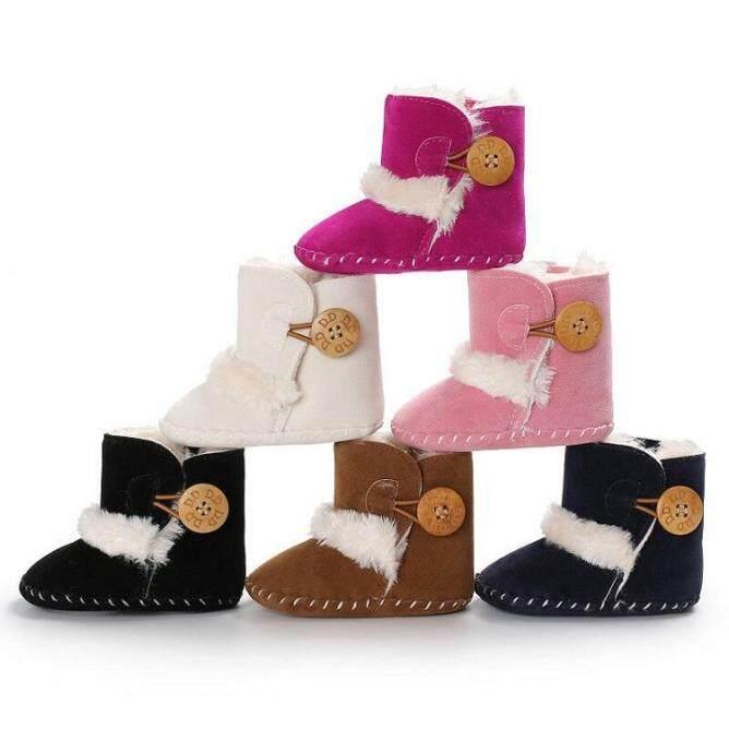 Giày đế mềm cho trẻ sơ sinh từ 0-18 tháng giúp giữ ấm đôi chân bé - INTL giá rẻ