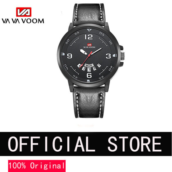 VA VA VOOM Sport Watch for men Leather strap Jam Tangan Sukan Lelaki Casual Business Quartz Waterproof Watches (Use Japan movement)Top Luxury Brand Clock Malaysia