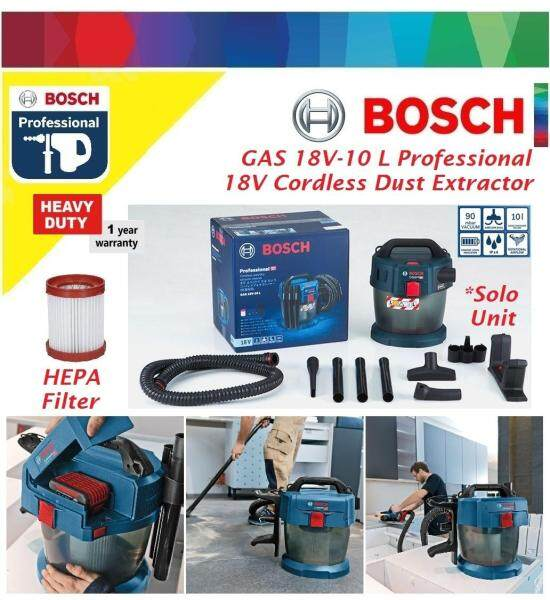 Bosch GAS 18V-10L Cordless Dust Extractor (Solo)
