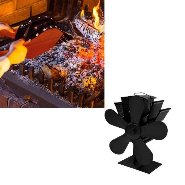 BolehDeals 5-Blade Fireplace Fans+Fireplace Bellows(39x17cm)-Ultra Quiet More Warm Air Singapore