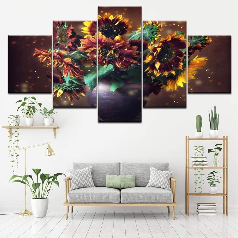Sunflowers Flower Framed Canvas Print Home Décor Wall Art