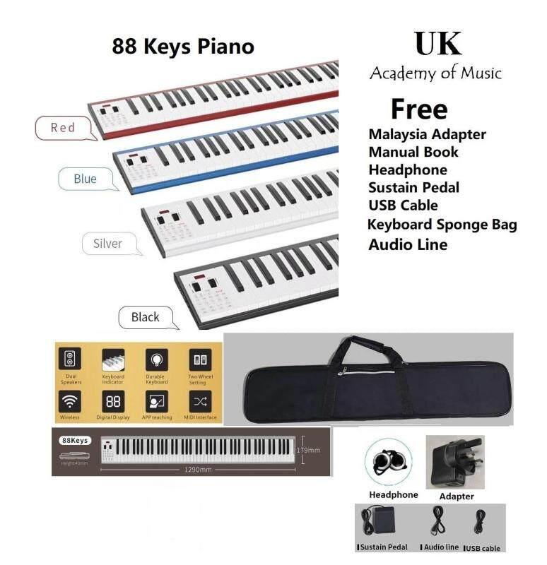 [Rechargeable] Portable 88 Keys Traveler Electronic Piano MIDI Keyboard (Black color) Malaysia