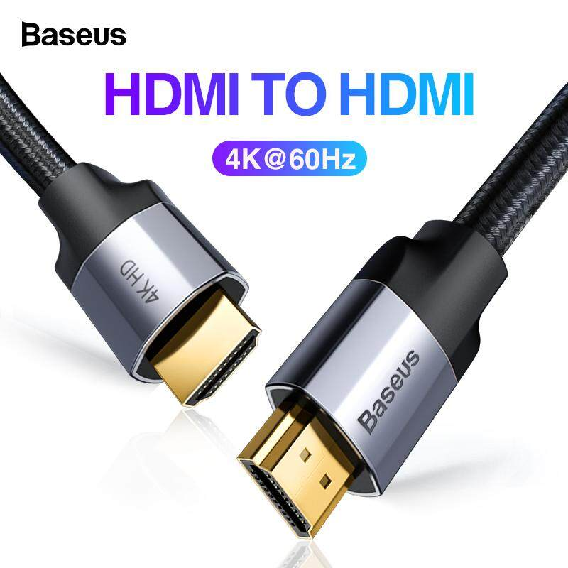 Baseus Hdmi Cable 4k 60hz Hdmi To Hdmi 2.0 Extension Splitter Cable For Tv Switch Projector Laptop Office Video Cable Hdmi.