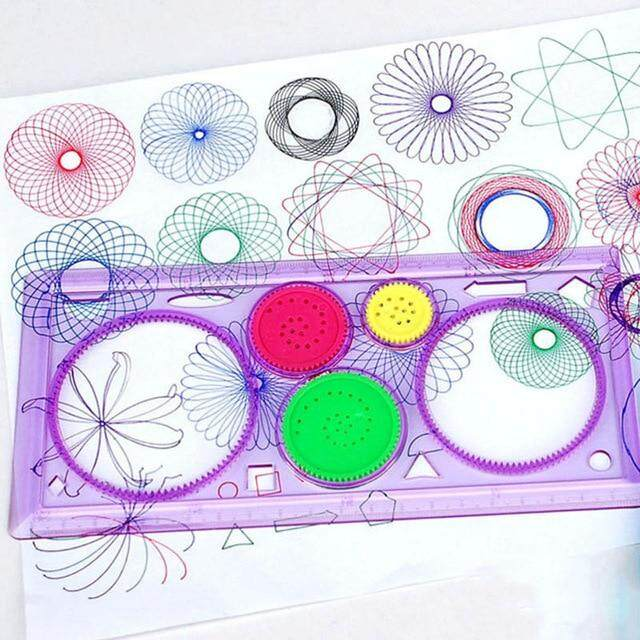 Painting Multi-Function Puzzle Spirograph Geometric Ruler Drafting Tools For Students Drawing Toys Children Learning Art Tool By Hyde Store.