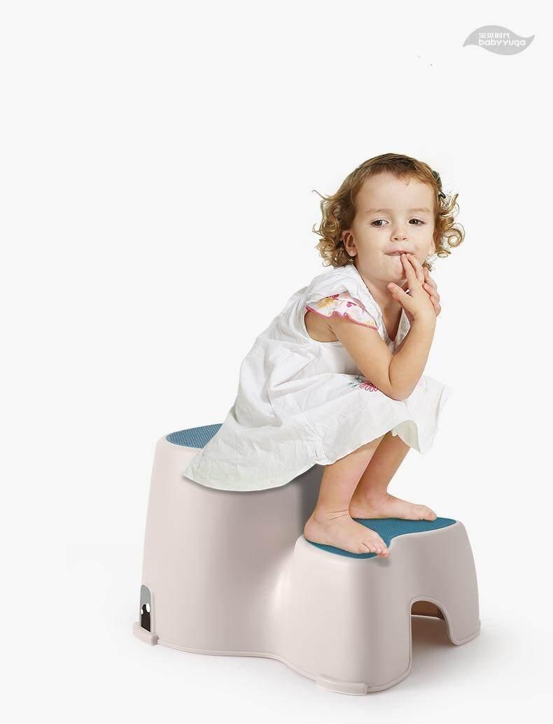 โมเดิร์นพลาสติกสตูลเด็กอนุบาลเด็ก WASH Pad เท้าลื่น Ascending บันไดเก้าอี้บันได