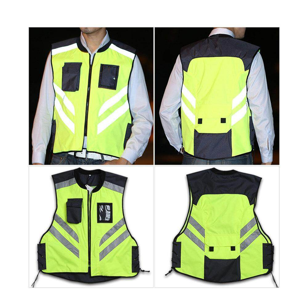 Reflective Vest High Visibility Unisex Night Riding Running Reflective Safety Warning Vest for Traffic Workers Bike Riders