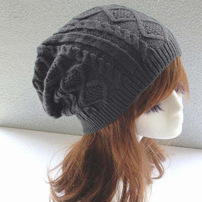 019d962add613c Winter Warm Women Hat Caps Twist Pattern Knitted Casual Beanie Hats For  Women Solid Gorros 6