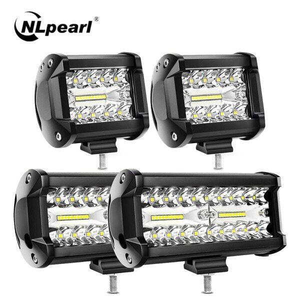 Thanh Đèn LED 12V 24V Thanh Đèn Pha Chiếu Điểm Đèn Làm Việc Lái Xe Ô Tô Offroad 4X4 Cho Xe Tải Thuyền 4WD ATV UAZ Barra Đèn Pha Led