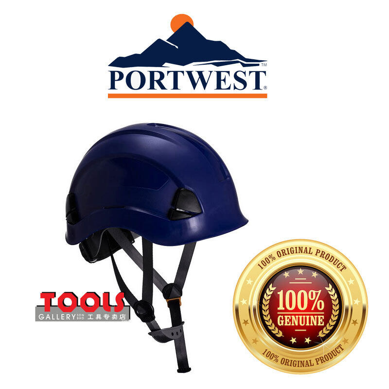 PORTWEST Height Endurance Helmet - PS53 (Blue)/Safety Helmet/Working At Height/Head Protection