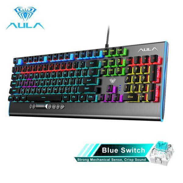 AULA F2099 Gamer Mechanical Keyboard Blue Brown Switch Mix Backlit Wired Gaming Keyboard Anti-ghosting for Game Tablet Desktop Singapore