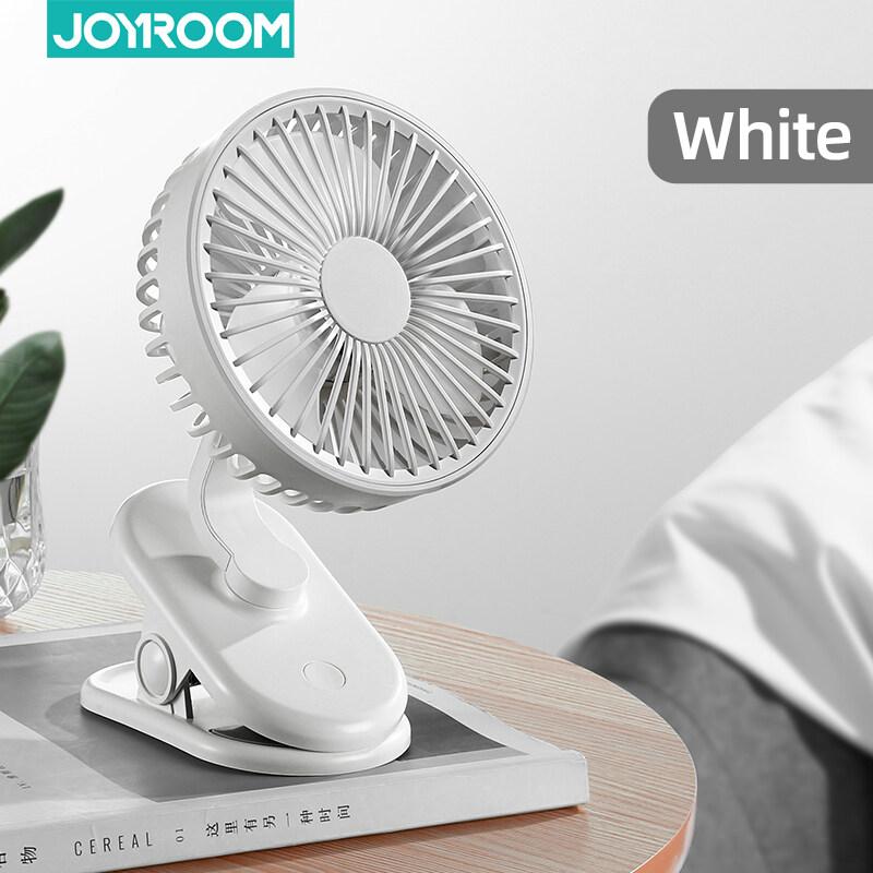 Joyroom Quạt mini hai đầu sạc USB với 03 cấp độ gió, độ ồn thấp, có thể điều chỉnh góc độ rộng 720 độ, có thể thêm tinh dầu thơm - INTL