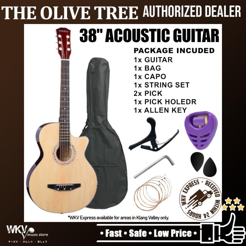 38 inch Acoustic Guitar Package (COMBO Set/ Gitar Akustik/ Standard Guitar Acoustic/ Cutaway/ Starte Malaysia