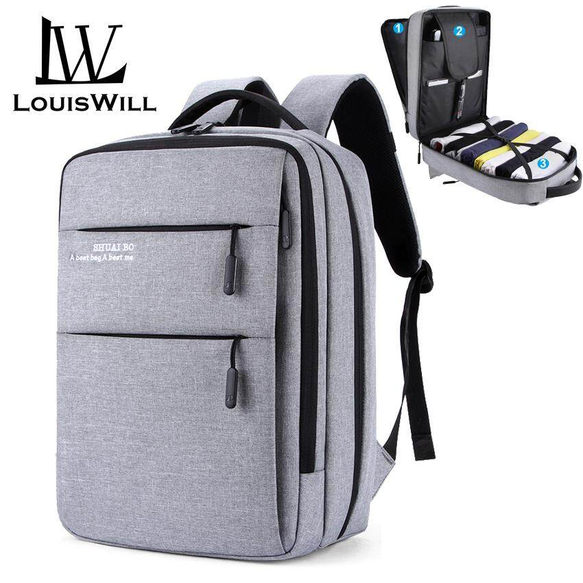 bb2f6d4aab04 LouisWill Laptop Backpacks Wear-resistant Shoulder Backpack Oxford  Waterproof Computer Bag Backpack with USB Charging Port Anti-theft College  Daypack ...