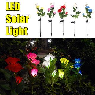 Đèn LED Hoa Hồng Năng Lượng Mặt Trời, Đèn Cọc Vườn Ngoài Trời Trang Trí Chiếu Sáng Cảnh Quan Miễn phí vận chuyển thumbnail