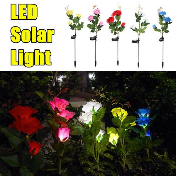 Bảng giá Đèn LED Hoa Hồng Năng Lượng Mặt Trời, Đèn Cọc Vườn Ngoài Trời Trang Trí Chiếu Sáng Cảnh Quan