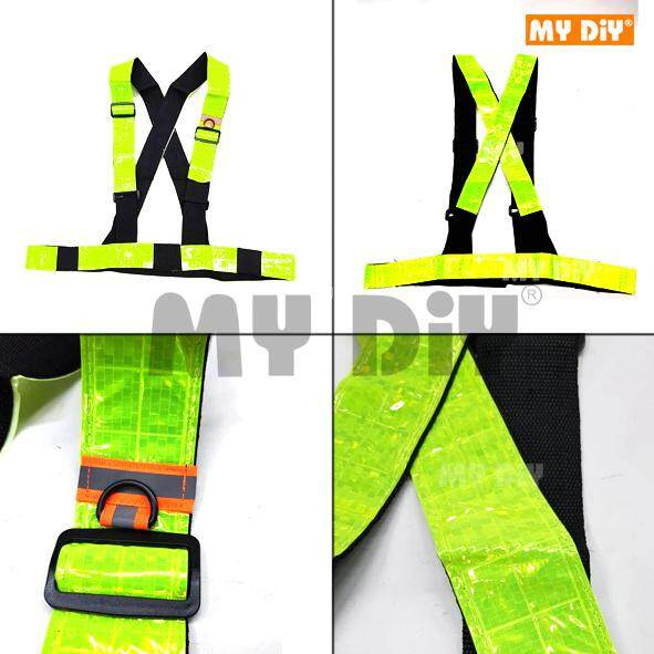 MY DIY - Heavy Duty Safety Vest Belt Type With 5cm High Quality Reflective Stripe / High Visibility Running, Walking Jogging, Cycling, Biking, Outdoor Reflective Safety Belt 10pcs