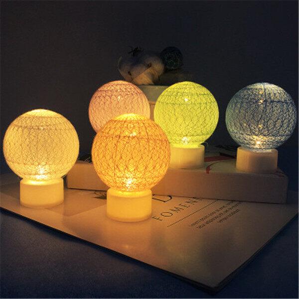 Bảng giá Đèn LED Để Bàn Cạnh Giường Ngủ Dimmable Đèn Phòng Ngủ Trang Trí Wicker Ánh Sáng Ban Đêm Sinh Nhật Sáng Tạo Trẻ Em Quà Tặng Phích Cắm Chuẩn EU 220V