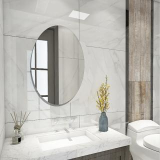 Stiker Dinding Cermin Yang Bisa Dilepas, Stiker Persegi Panjang Dekorasi Seni Ruang Oval Z thumbnail