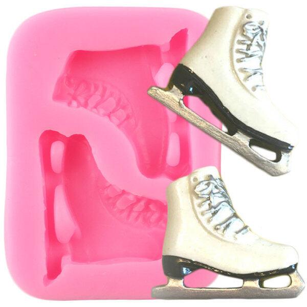 Phân phối Phụ Kiện Skate Giày Trượt Băng Rộng Móc Khóa Khuôn Giày Khuôn Silicone Mặt Dây Chuyền Đất Sét Polymer Tự Làm Đồ Trang Sức Làm Móc Chìa Khóa Khuôn Nhựa Epoxy