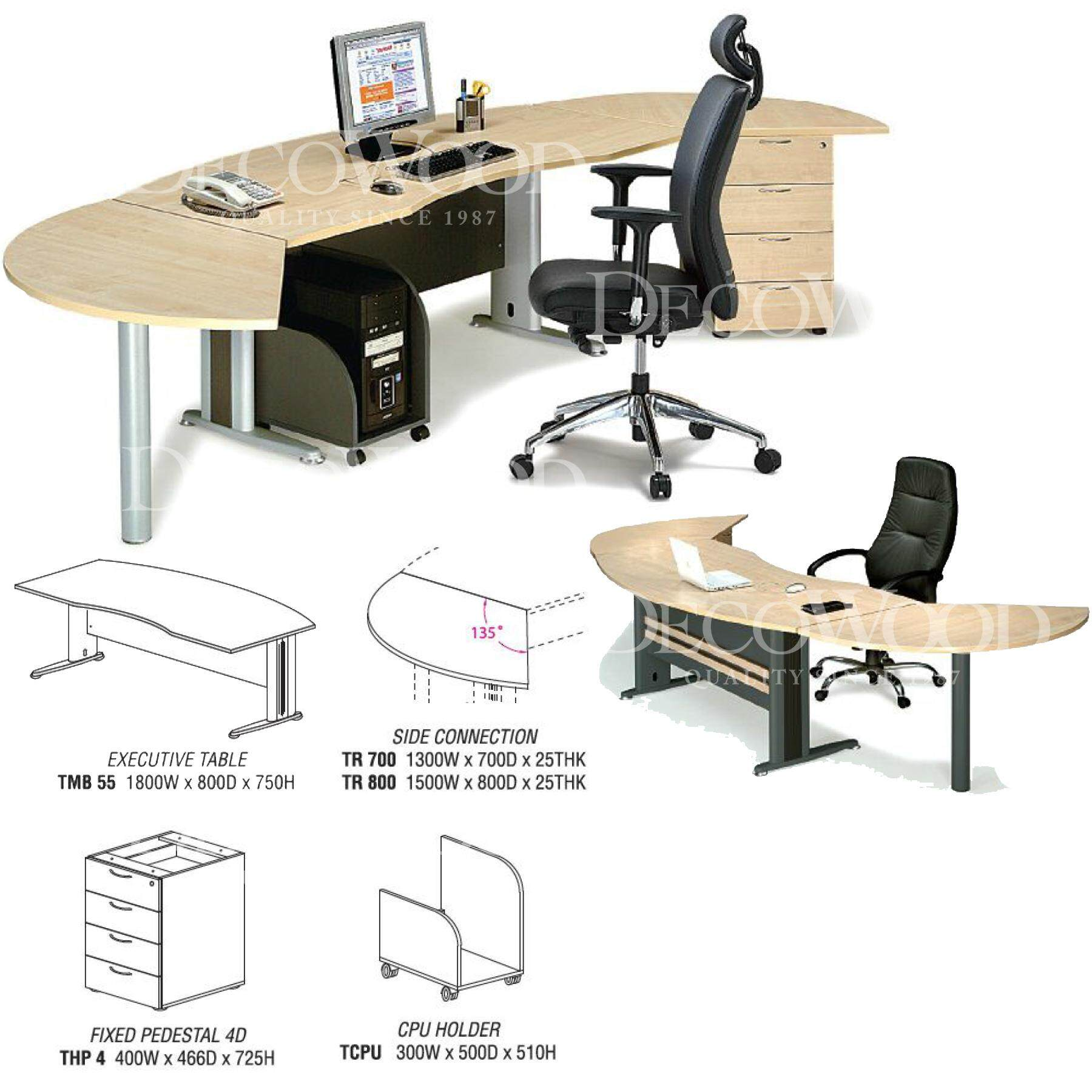 Executive Table Set / Superior Compact Table / Executive Table / Standard Table / Office Table / Office Meeting / Table Writing / Table Director / Table Dining / Table Discussion / Office Desk