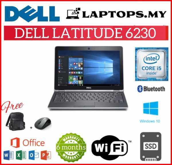 DELL LATITUDE E6230 BUSINESS SERIES - CORE I5-3230M / 8GB DDR3 RAM / 128GB SSD STORAGE / 12.5 INCH / WINDOW 10 PRO [ 6 MONTHS WARRANTY ] [ LAPTOP ] Malaysia