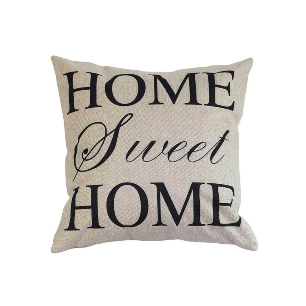 Hình ảnh Mềm mại 18 ''SWEET HOME Gối Cotton Linen Ghế Sofa Đệm Trang Trí Nhà ST
