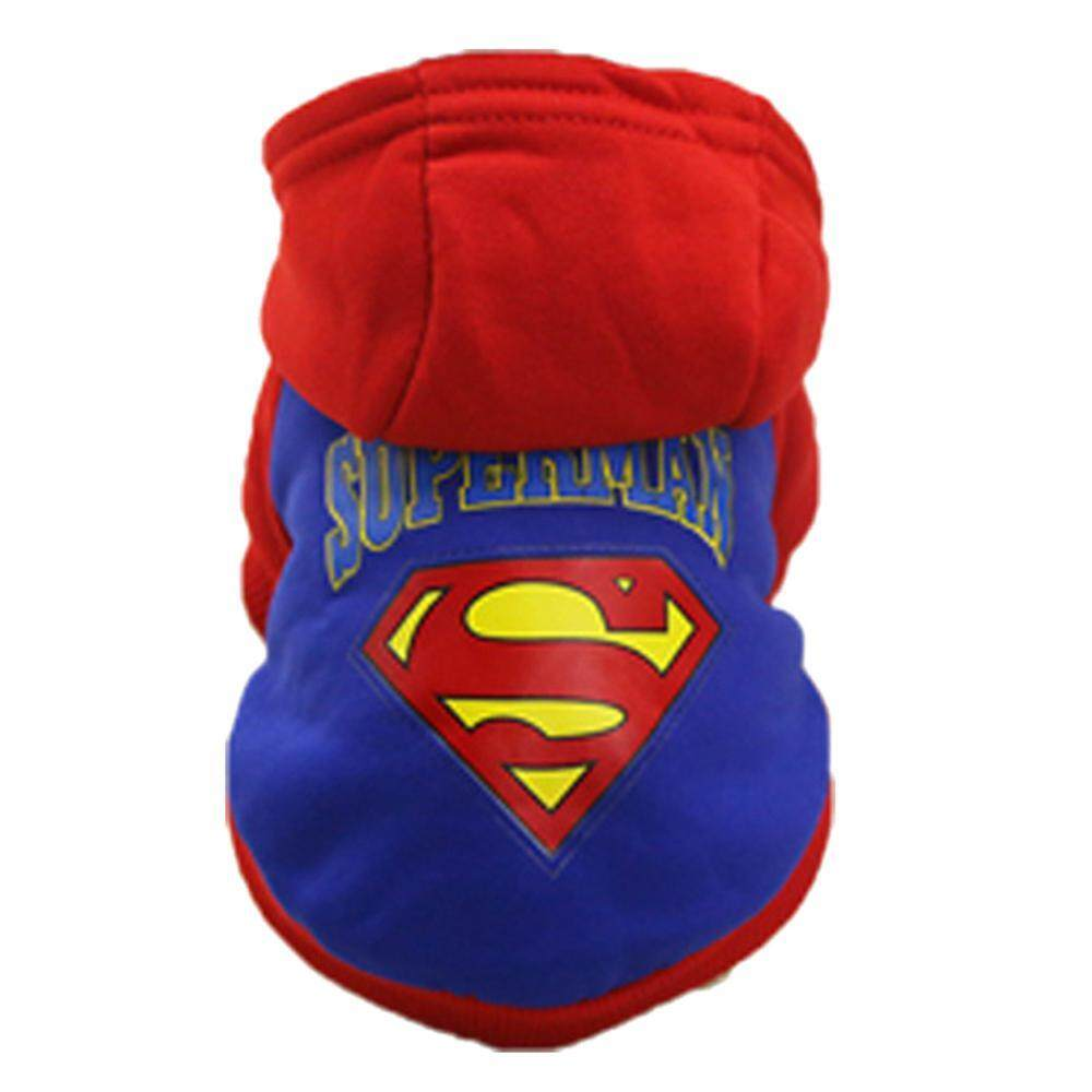 Bumblebaa Dog Clothing Big Dog Clothes Pet Products Large Dog Sweater Clothes Autumn And Winter New Cap Superman By Bumblebaa.