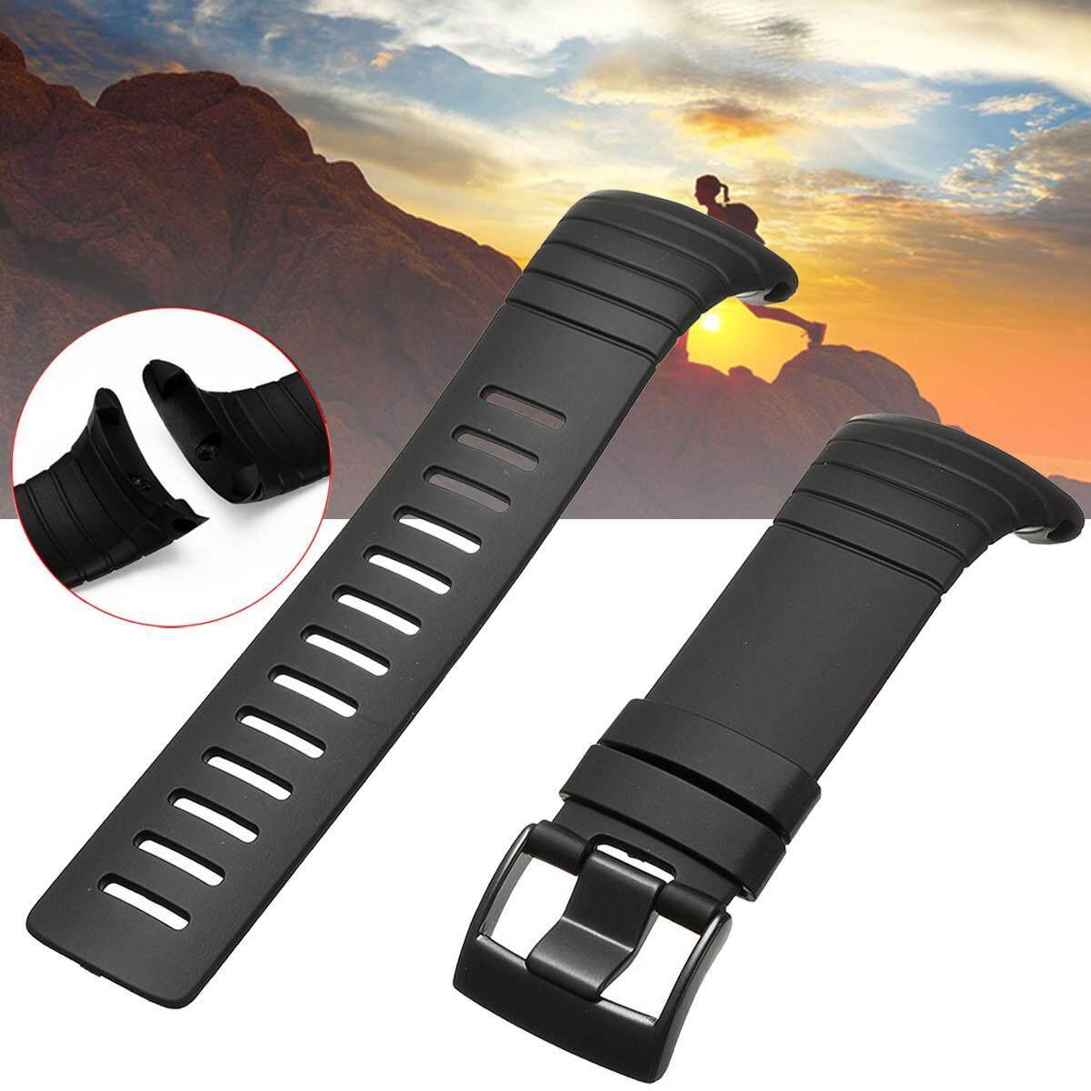 Replacement Silicone Rubber Watch Band Strap + Clasp Fastener For SUUNTO CORE Malaysia