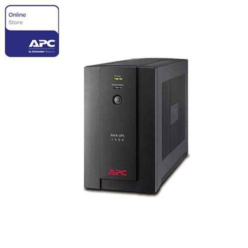 APC Back-UPS 1400VA, AVR, 230V, Universal, IEC BX1400U-MS - Black