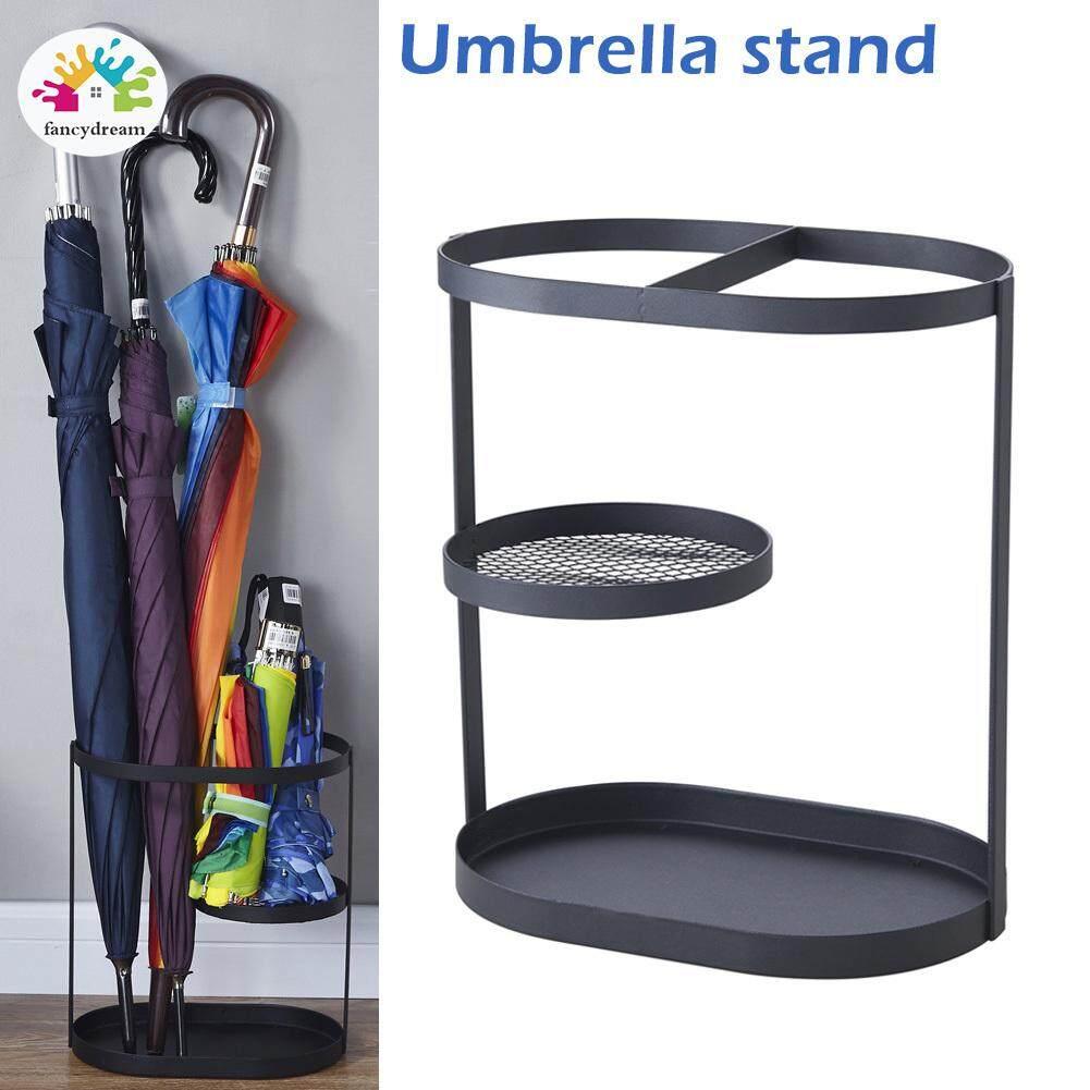 fancydream Metal Umbrella Bucket Shelf Umbrella Stand Holder Rack Home Barrel Storage