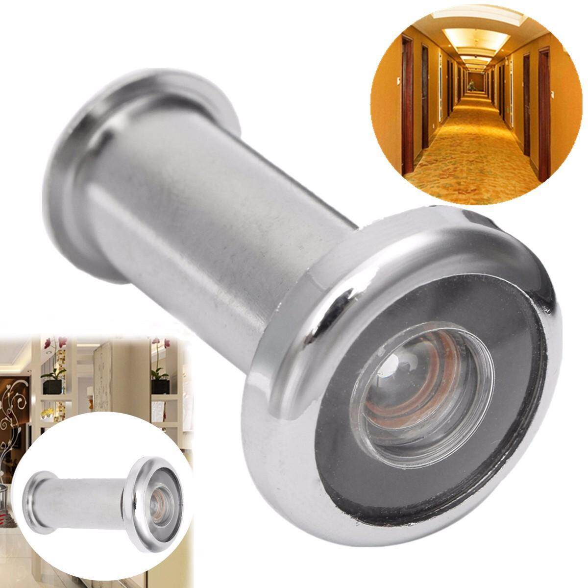 Adjustable Home Security 200 Degree Wide Angle Door Viewer Peep Brass Sight Hole -- Gold / Silver