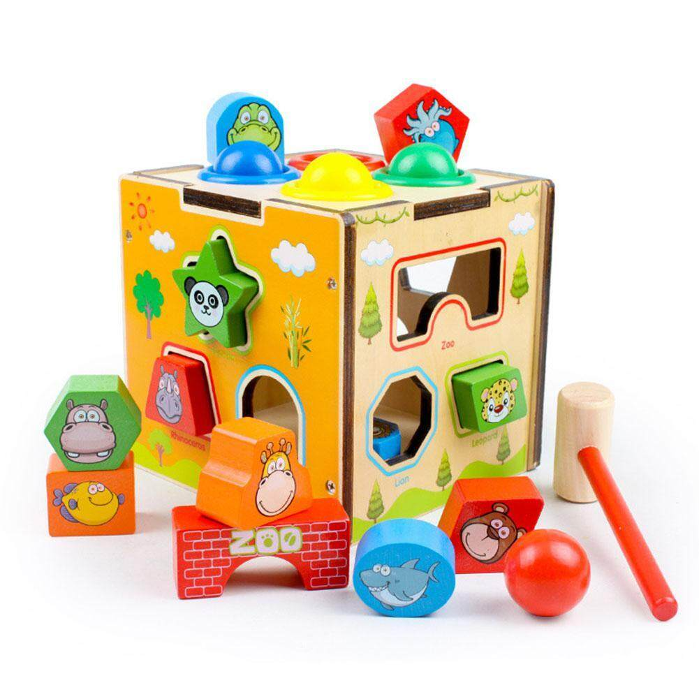 Kids Children Intelligence Box With Sound Shape Matching Knocking Toy Gift By Smart Choice Store.