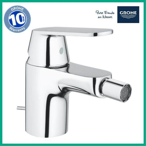 GROHE 32839000 Eurosmart Cosmopolitan Single Lever Bidet Mixer S-Size Complete with Pop-up Waste