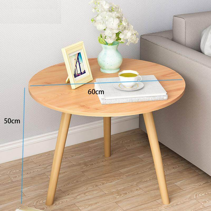 3 Wood Legs Coffee Table, Nordic Round End Side Table, Night Stand Table, Telephone Sofa Snack Table for Living Room Home, Balcony and