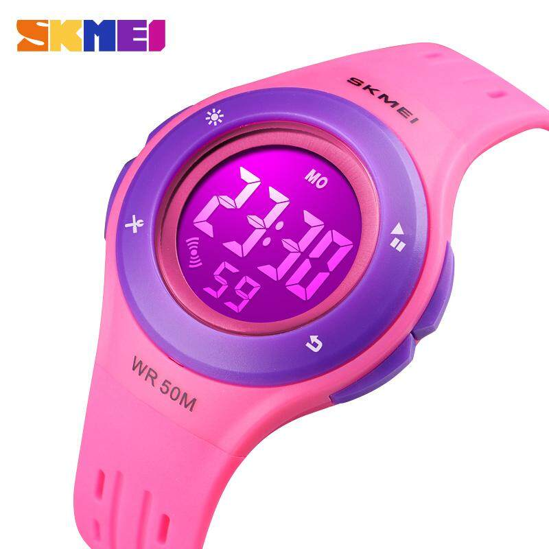 SKMEI New Fashion Children Watches Digital Waterproof Watch Multi-function Alarm LED Kids Casual Sport Wristwatches 1455 Malaysia