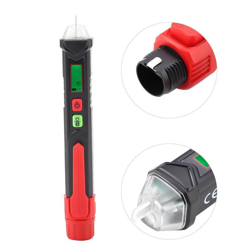【Upgraded Version】Testing Detector 0~40°C HT100 LED Light Non-contact Test Pen AC Voltage