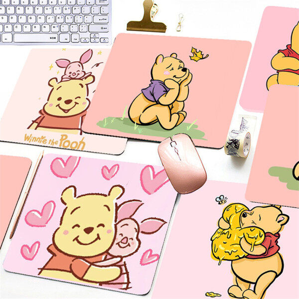 [mouse pad]Cute Winnie the Pooh Print Printed Mouse Pad Game Office Home Multimedia Computer Keyboard Non-slip Mouse Pad Malaysia