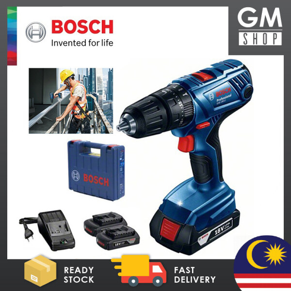 GMSHOP BOSCH GSB 180-LI Professional Cordless Impact Drill (With 2 Batteries + 1 Charger) - 06019F83L0