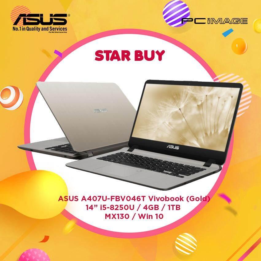 ASUS Vivobook A407U-FBV046T 14  Laptop-Gold (i5-8250U, 4GB, 1TB, Mx130, Win10) Malaysia