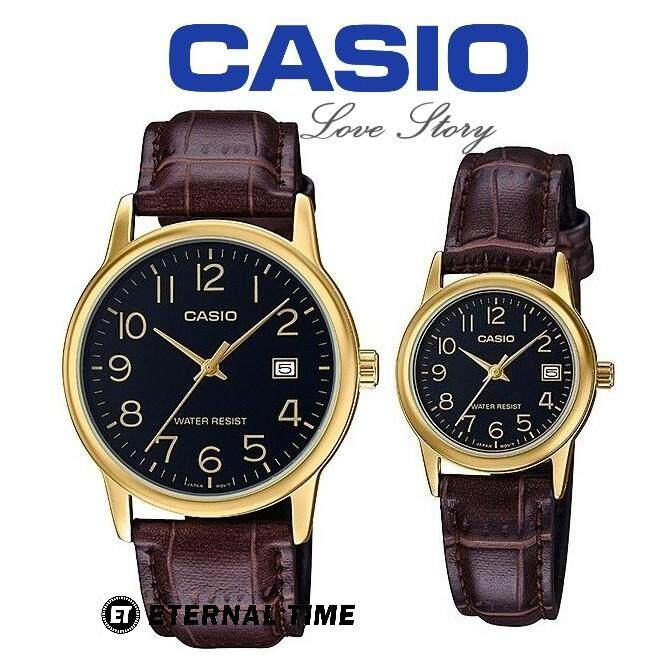 (2 YEARS WARRANTY) CASIO ORIGINAL MTP-V002GL-1B & LTP-V002GL-1B COUPLE WATCH Malaysia
