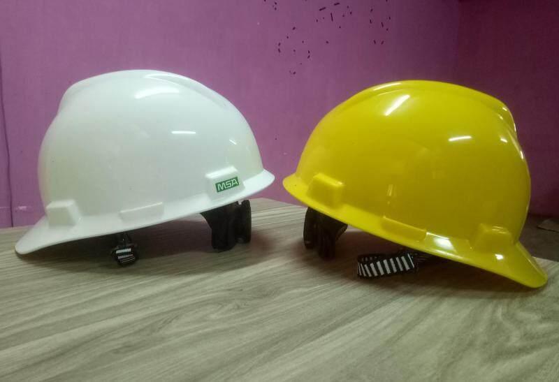 MSA Safety Helmet - V-Gard White/Yellow