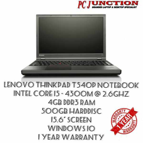 Refurbished Notebook Lenovo Thinkpad T540P (I5-4300M , 4GB DDR3 , 500GB , WINDWS 10 , 15,6 SCREEN) Malaysia