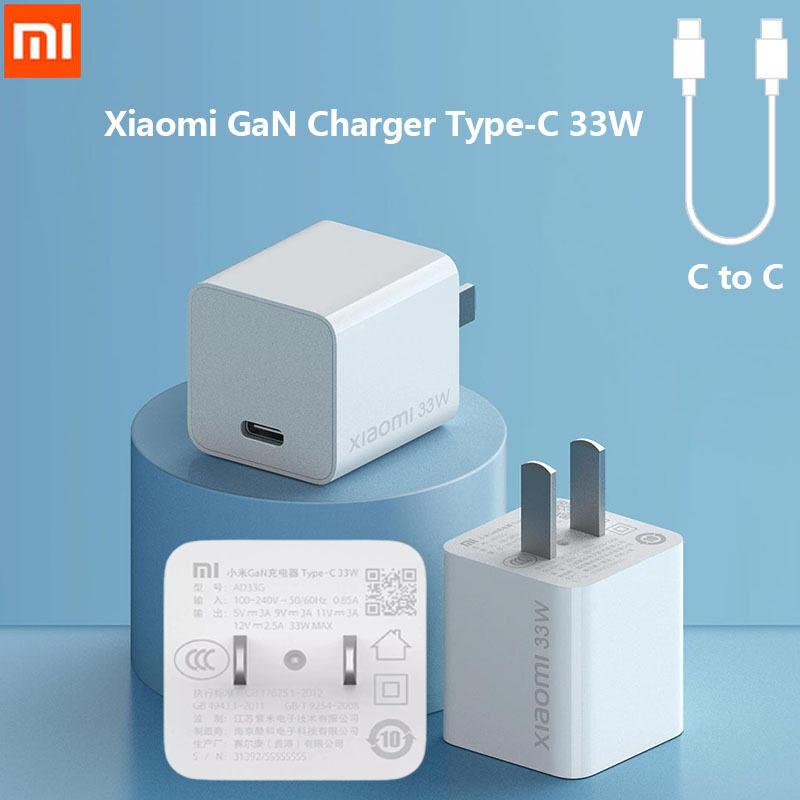 Xiaomi GaN Sạc, Type-C 33W 3A MAX Sạc USB-C Sạc Nhanh C Đến C Redmi K30 Tương Thích Với Thiết Bị Iphone Android