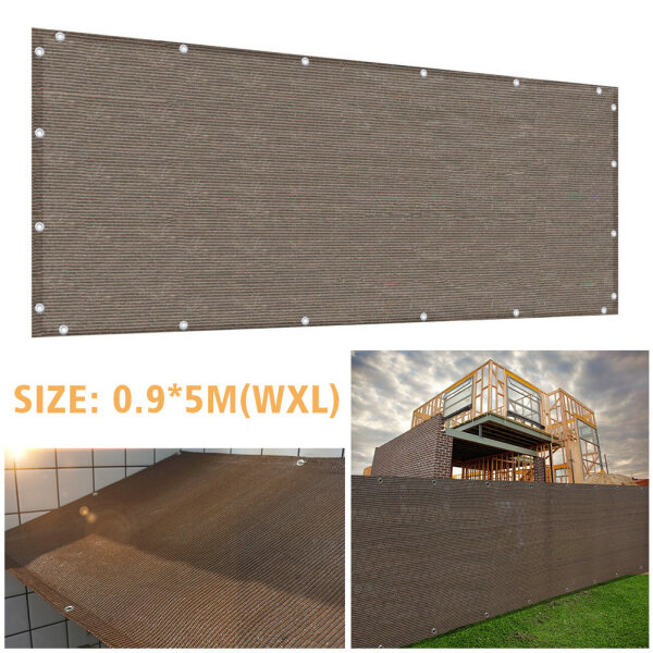0.9x5m Outdoor Garden Privacy Protection With Grommets Anti-UV HDPE Multipurpose Greenhouse Home Balcony Safety Succulent Plant Cover Swimming Pool Shade Net