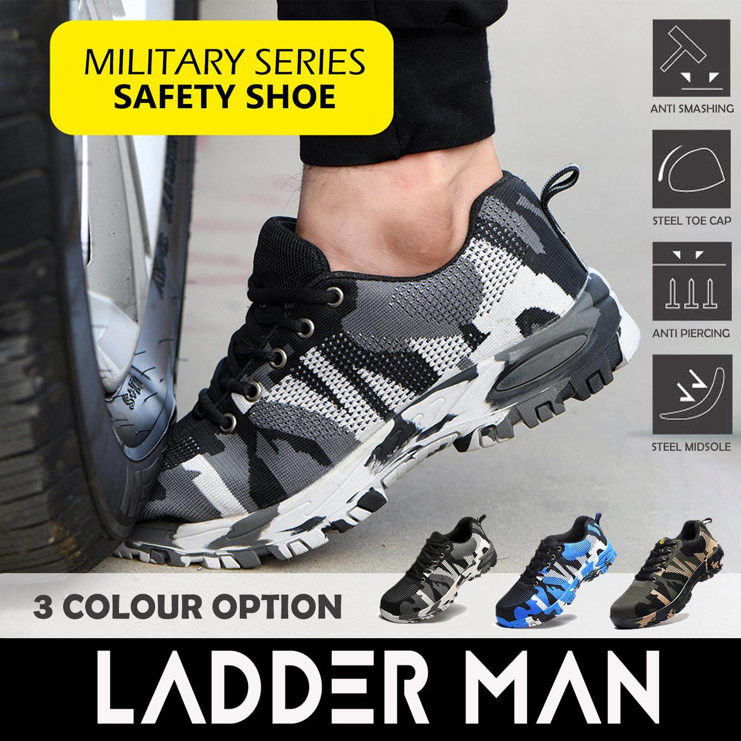 Military Series Steel Toe Cap Midsole Low Cut Safety Shoe Safety Boot Camouflage Boots Hiking Shoe